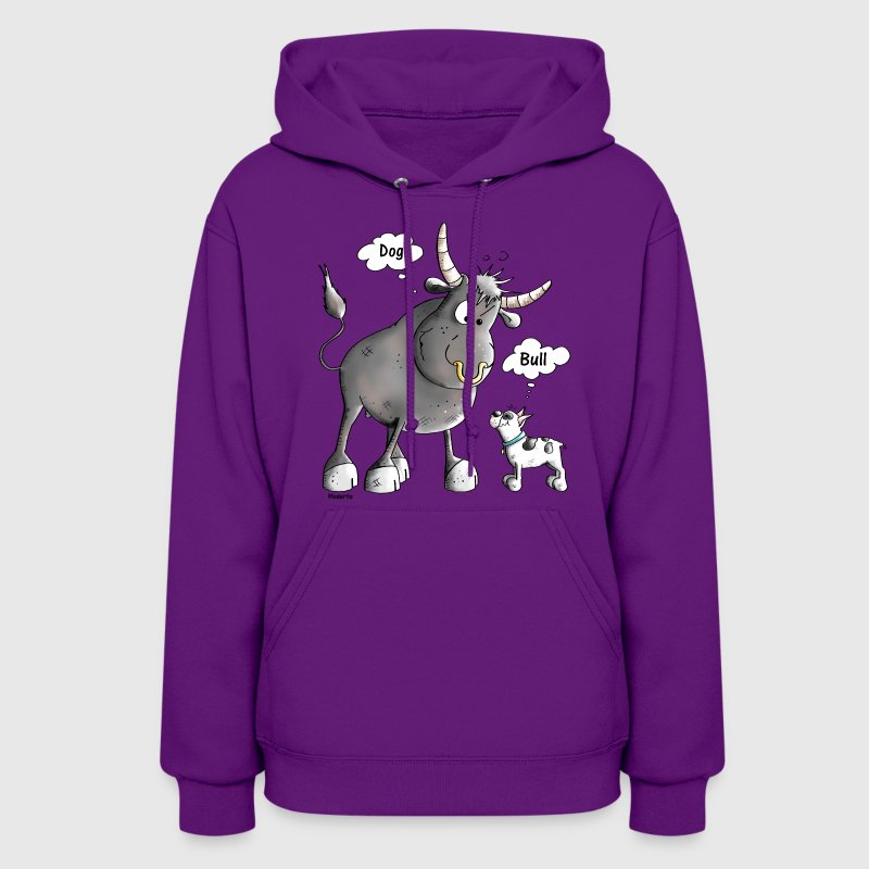 Funny French Bulldog Cartoon - Women's Hoodie