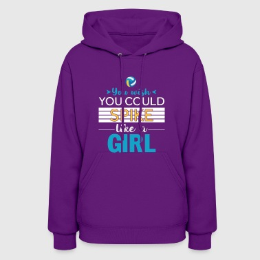Great Volleyball T-Shirt For Girls. - Women's Hoodie