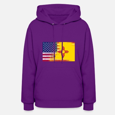 New Mexico New Mexico American Flag Fusion - Women's Hoodie