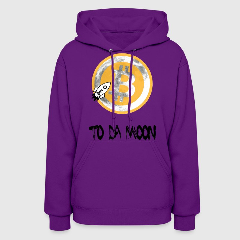 Bitcoin To Da Moon T Shirt - Women's Hoodie