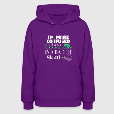 Skittles I'm more confused than a Chameleon - Women's Hoodie