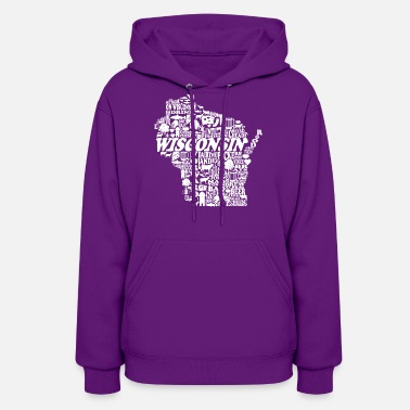 Wisconsin Wisconsin Words State City Love Cute Clothing - Women's Hoodie