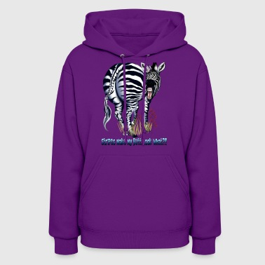Zebra Fat Butt Stripes - Women's Hoodie