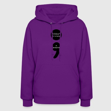 Catholic Semicolon:  LIVE...that is the Secret to LIFE! - Women's Hoodie