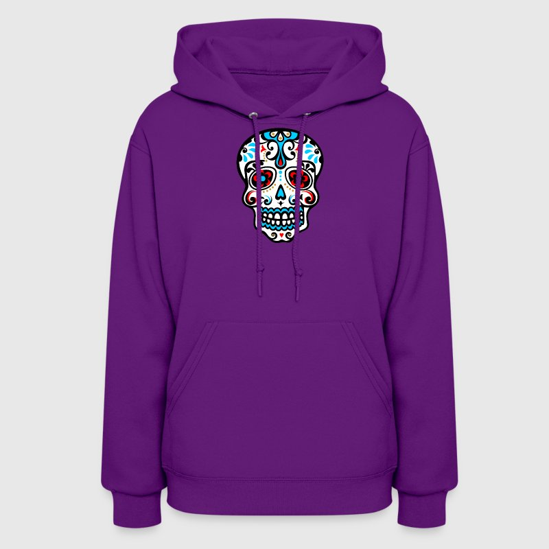 Skull, Mexico, flowers, patterns, skulls, mexican, - Women's Hoodie