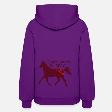Appaloosa Don't worry, be APPY - Women's Hoodie