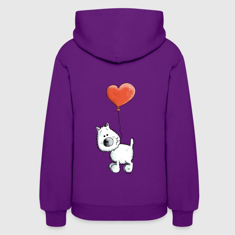 West Highland White Terrier - Dog With Heart - Women's Hoodie