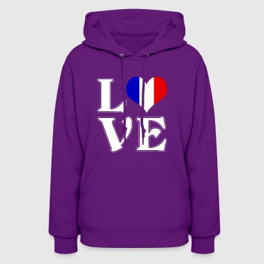 I love France - traveling - Women's Hoodie