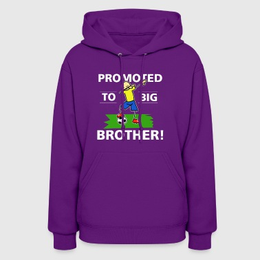 Promoted to Big Brother 2018 boys Tshirt soccer pl - Women's Hoodie