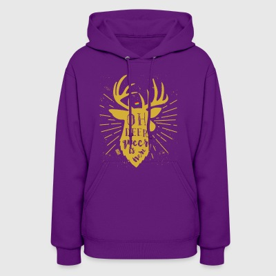 Oh Deer Queer Here Gay Pride LGBT Reindeer Christm - Women's Hoodie