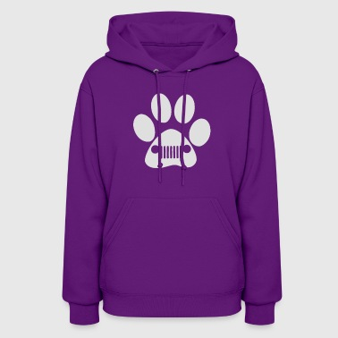 New Heart and Dog Paw Decal Jeep - Women's Hoodie