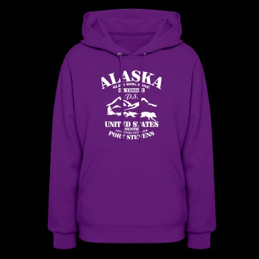 New Design Alaska sled dog zone out dor - Women's Hoodie