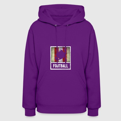 Distressed Design for FOOTBALL - Women's Hoodie