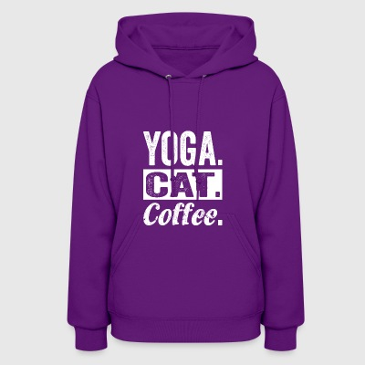 Yoga Cat Coffee tshirt - Best Yoga gifts - Women's Hoodie
