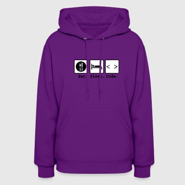eat sleep code Nerd Wear - Women's Hoodie