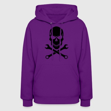 Car Tuning / Car & Bike Wrench - Skull - Women's Hoodie