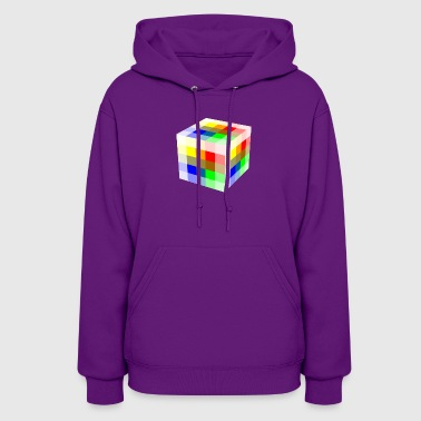 Multi Colored Cube - Women's Hoodie