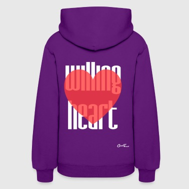Willing heart-white - Women's Hoodie