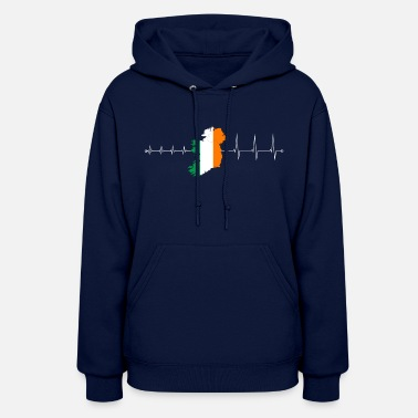 I Love Ireland Heartbeat Ireland - I love Ireland - Women's Hoodie
