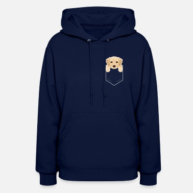 Yellow Lab In My Pocket Cute Dog Owner - Women's Hoodie