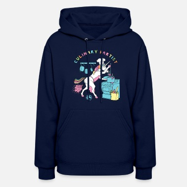 Culinary Art Culinary Fartist Unicorn Outline - Women's Hoodie