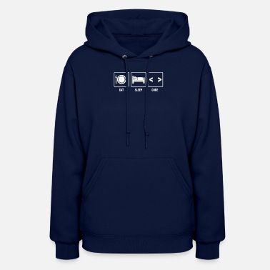 Coding V1 Eat Sleep Code - Women's Hoodie
