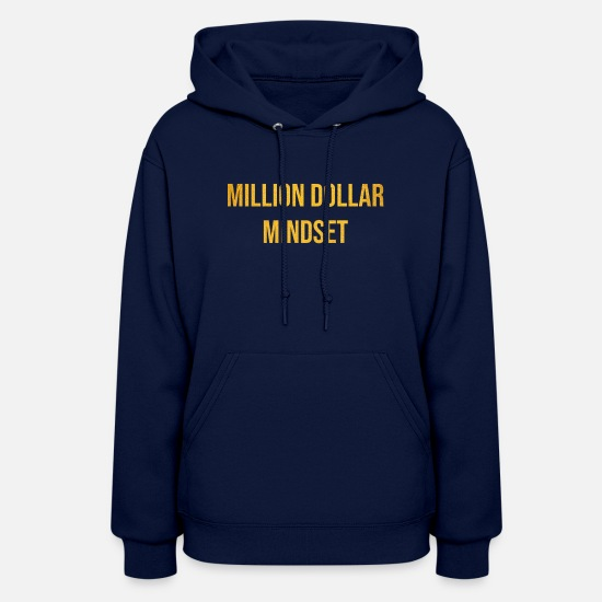 Gift Idea Hoodies & Sweatshirts - MILLION DOLLAR MINDSET - Women's Hoodie navy