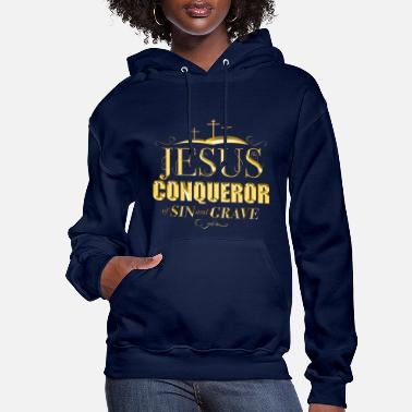 Jesus Conquerer of sin and grave - Women's Hoodie
