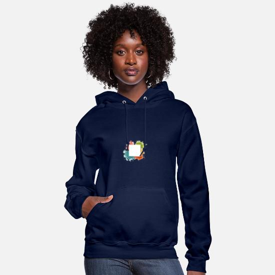 Gay Pride Hoodies & Sweatshirts - 2 rainbow rectangle - Women's Hoodie navy