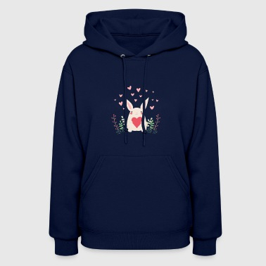 rabbit heart eastern sweet comic - Women's Hoodie