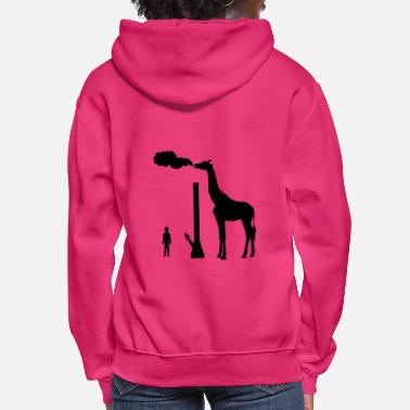 Smoking Giraffe smoking bong too big for human - Women's Hoodie