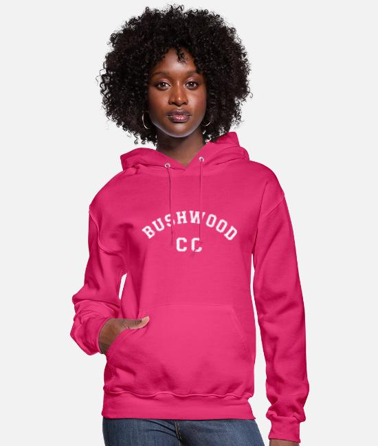 Movie Hoodies & Sweatshirts - Cadyshack Bushwood Country Club Staff Shirt - Women's Hoodie fuchsia
