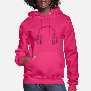 Note Clue headphone notes - Women's Hoodie