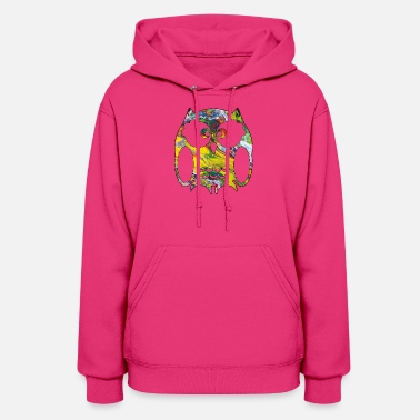 cute colorful owl - Women's Hoodie