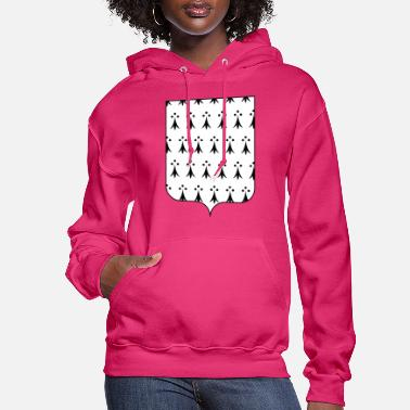 Coat Coat of Arms of Brittany, France - Women's Hoodie