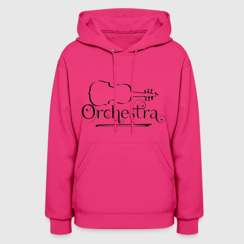 Orchestra Violin Outline - Women's Hoodie
