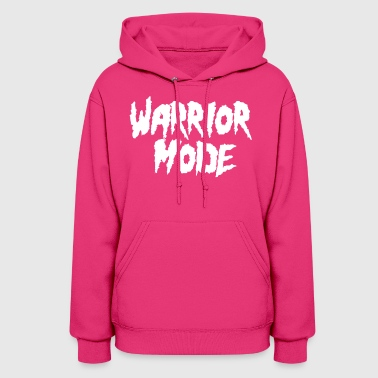 warrior mode white - Women's Hoodie