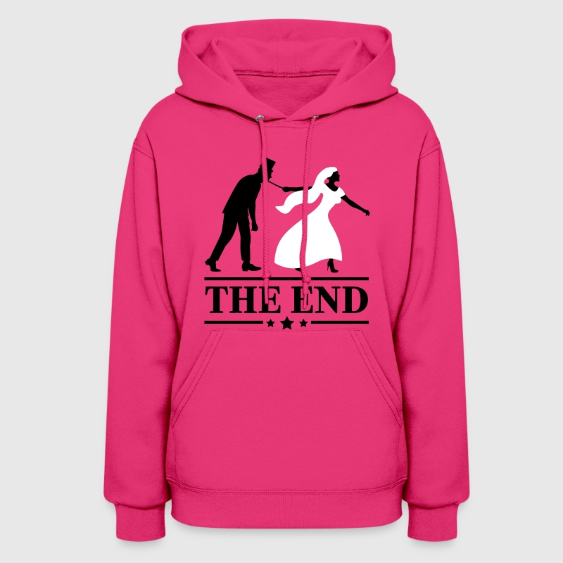 game over bride and groom wedding stag night end - Women's Hoodie
