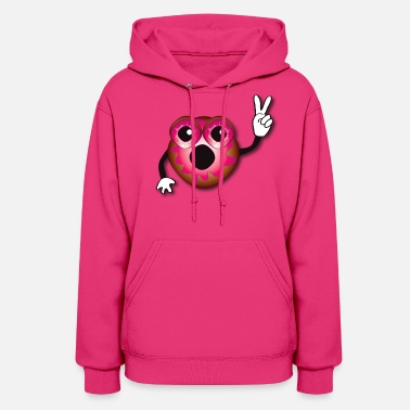 Jelly Peace Donut - Pink Jelly - Women's Hoodie