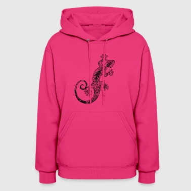 Gecko gecko made from various ornaments - Women's Hoodie