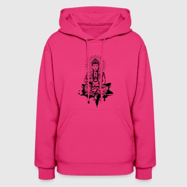 Buddha in the lotus position - Women's Hoodie