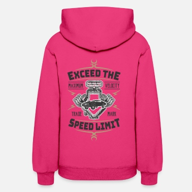 V8 Exceed The Speed Limit ! V8 Musclecar Speed - Women's Hoodie
