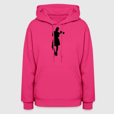Woman body Silhouette vector design - Women's Hoodie
