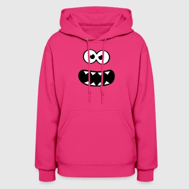 Funny Cookie Monster (Smiley Comic) Face  - Women's Hoodie