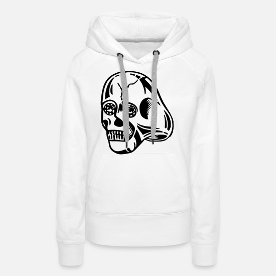 Gang Hoodies & Sweatshirts - Skull ring - Women's Premium Hoodie white