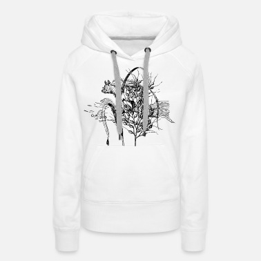 Wheat Rice plant - Women's Premium Hoodie