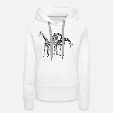 Big Sister Little Brother Giraffes Endangered Wildlife Africa T shirts - Women's Premium Hoodie