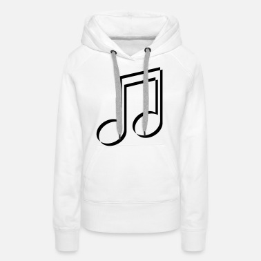 Music Note sign party music note music celebrate 3d band conc - Women's Premium Hoodie