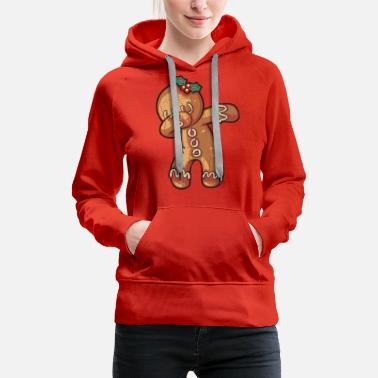 Dabbing Ginger Bread Graphic Gifts Christmas - Women's Premium Hoodie