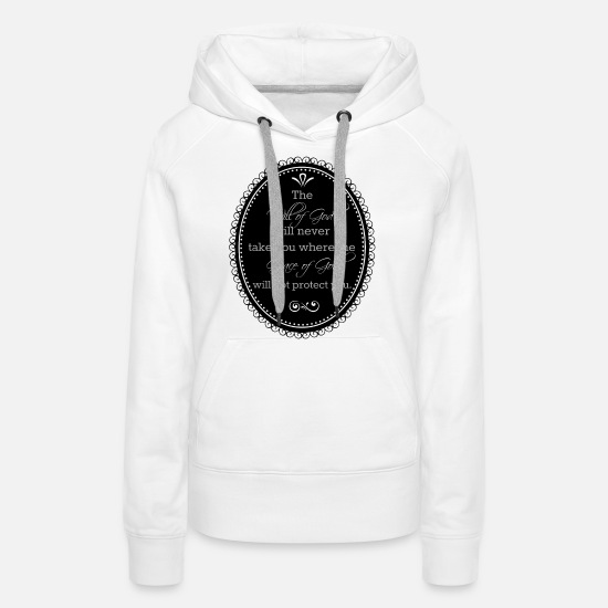 Grace Hoodies & Sweatshirts - Will of God - Women's Premium Hoodie white